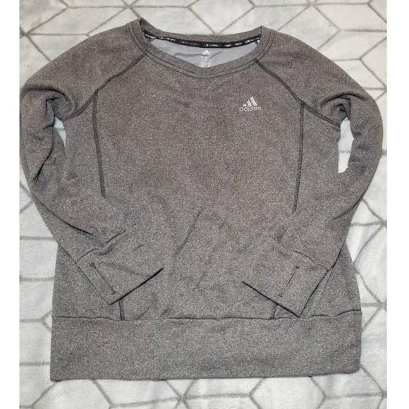 Adidas Sweaters   Womens Athletic Sweat Shirt Grey Size M   Poshmark ae31bd61707b